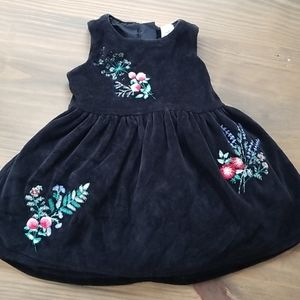 Carter's Black & Floral Baby Dress